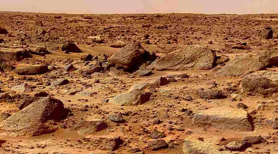 Skały na powierzchni Marsa