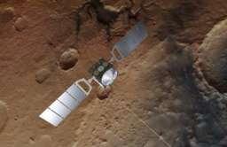 Sonda Mars Express nad Marsem