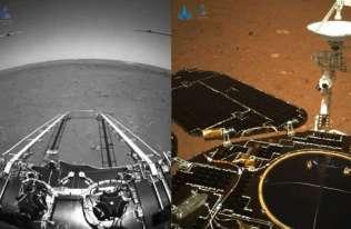 Chiński łazik Zhurong przesłał pierwsze zdjęcia z Marsa