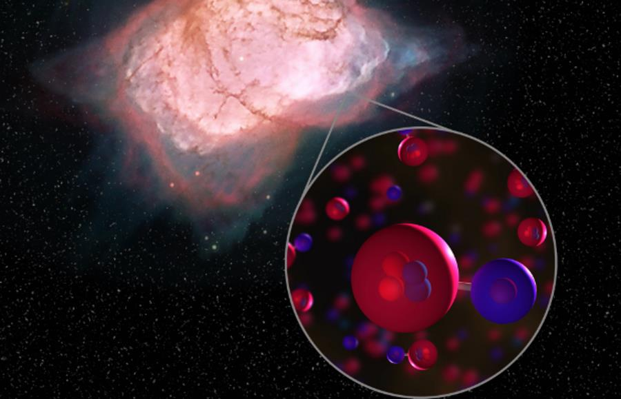 Molekuła wodorku helu