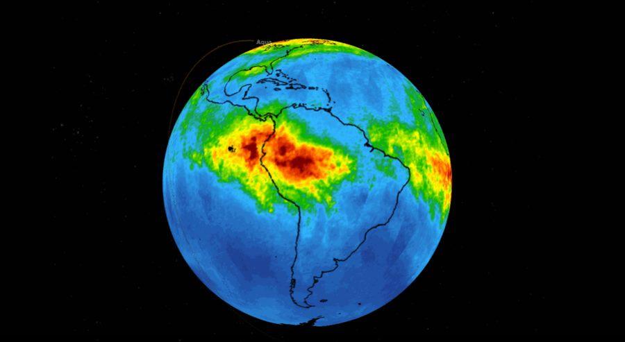 Emisja tlenku węgla z pożarów Amazonii