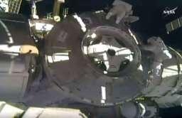 Astronauci podczas pracy przy Międzynarodowej Stacji Kosmicznej