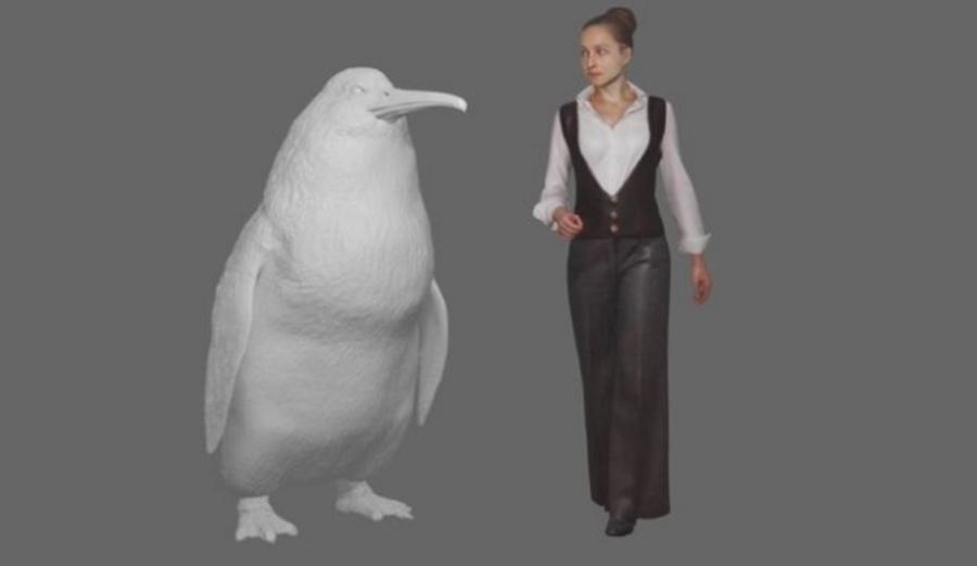 Prehistoryczny pingwin wielkości człowieka