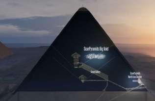Pusta przestrzeń w Wielkie Piramidzie