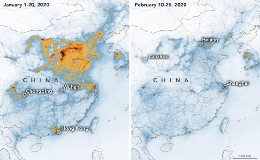 Spadek zanieczyszczenia powietrza w Chinach. Nieoczekiwany skutek koronawirusa