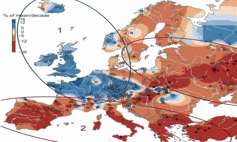 Trendy zmian wielkości powodzi w Europie