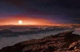 Wizja artystyczna powierzchni planety Proxima Centauri b