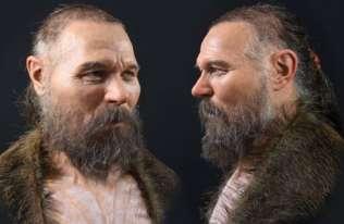 Rekonstrukcja twarzy mężczyzny z epoki kamienia