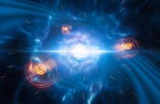 Wykryto pierwszy ciężki pierwiastek zrodzony w kolizji gwiazd neutronowych