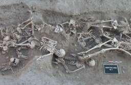 Masowy grób ofiar dżumy w Martigues we Francji