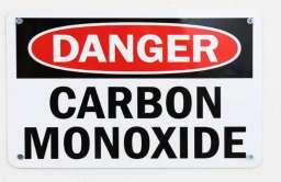 Znak - Uwaga tlenek węgla
