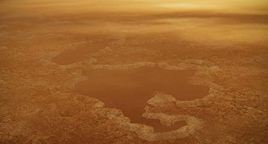 Jeziora metanu na Tytanie