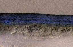 Struktura podpowierzchniowego lodu na Marsie