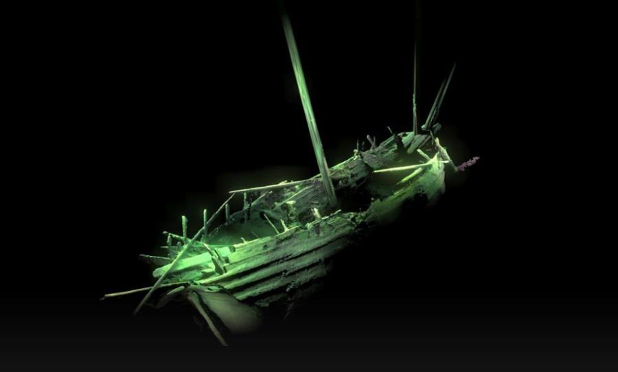 Wrak statku na dnie Bałtyku