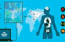Diagram pokazujący działanie urządzenia do wykrywania chorób z oddechu człowieka