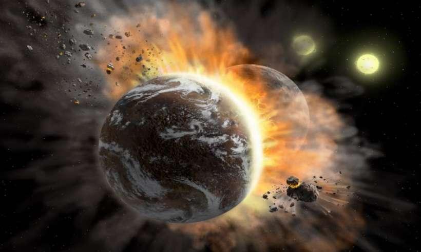 Zderzenie planet w odległym systemie