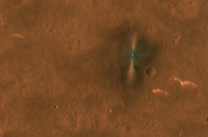 Zhurong widziany z orbity Marsa