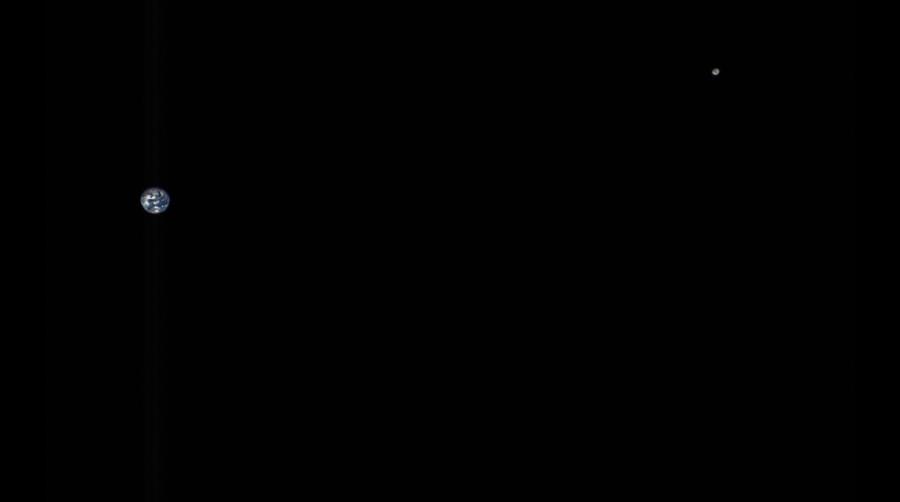 Zdjęcie Ziemi i Księżyca wykonane przez sondę OSIRIS-REx