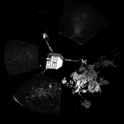 Rosetta panoramic ESA Rosetta Philae CIVA