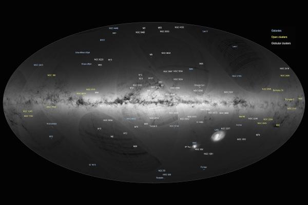 Mapa Drogi Mlecznej, fot. ESA