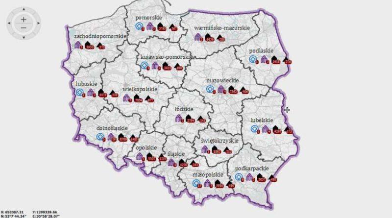 mapa polskich zabytków